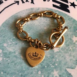 Juicy Couture Gold Heart Toggle Charm Bracelet ✨